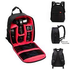 Wasserdichte DSLR Kamera Rucksack Umhängetasche Tasche für Canon/Nikon/Sony Rot