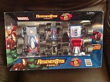 marvel regener8ers3 pack vehicle set captain america iron man spiderman bnib