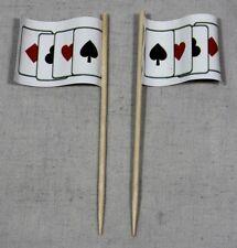 Party-Picker Spielkarten Poker Skat 50 Stk. Dekopicker Käsepicker Food Flagge