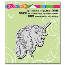 Stampendous Rubber Stamps - Unicorn Rose - Unicorns