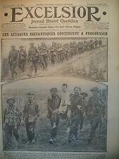 WW1 N° 2075 TOMMIES ET PRISONNIERS ALLEMANDS FRONT RUSSE JOURNAL EXCELSIOR 1916