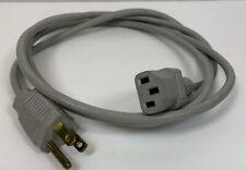 Vintage Genuine Apple Macintosh 3 Prong Electri Cord #34 Power Cord 6 Ft