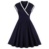 Vintage Style 1950s Rockabilly Retro Evening Party Swing Tea Dress Plus Size