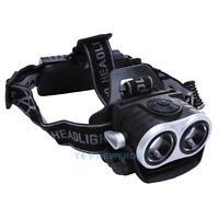 10000Lm Elfeland Headlight 2x T6 LED Rechargeable Headlamp Head Torch USB 18650