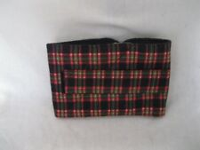 """ULTIMATE DOG K-9 Belly Bands Diapers Wrap Blk/Gr/R Plaid  M 19-23 x 6"""" Reusable"""