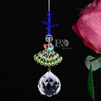 Crystal Prisms Suncatcher Rainbow Maker  Peacock Metal Wedding Window Decor Gift