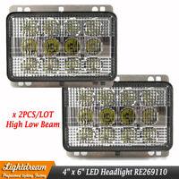 RE269110 6x4 CREE Led Headlights For John Deere 5225 5325 5425 5525 5625 5725 x2