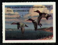 Illinois Migratory Waterfowl Stamp- Canvasbacks 1997 Il23 Mnh
