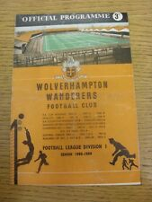 20/09/1958 Wolverhampton Wanderers v Newcastle United  (Three Punched Holes, Cre