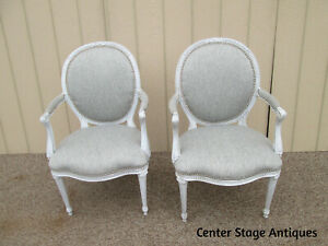 58957 Pair French Country Bergere Armchair Chair s Chairs
