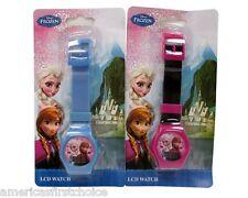 Disney Frozen Elsa Anna LCD Watch Girls Wristwatch Kids Digital Watchesx2-New!