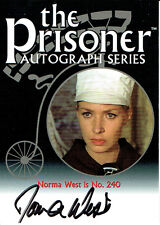 THE PRISONER AUTOGRAPH CARD PA15 OF NORMA WEST AS NO. 240