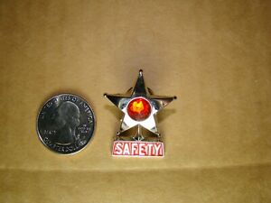 red vintage style safety star pin safety star hat pin safety star jacket pin