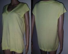 SPORTSCRAFT Size M Yellow Short Sleeve Cotton Jumper