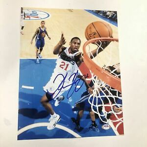 Thaddeus Young signed 11x14 photo PSA/DNA Philadelphia 76ers Autographed Pacers