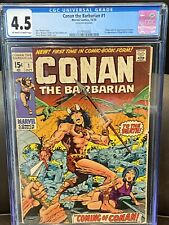 CONAN THE BARBARIAN #1 (1970) - CGC 4.5 -Bronze Age! First Issue!