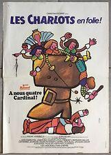 Affiche LES CHARLOTS EN FOLIE A NOUS QUATRE CARDINAL André Hunebelle 40x60cm *