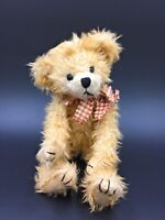 Vintage Fully Jointed Beanie Teddy Bear By Heartfelt Collectables 1999 Very Cute