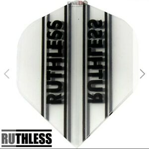 5 x Sets Ruthless 100 Micron Extra Tough Dart Flights Clear