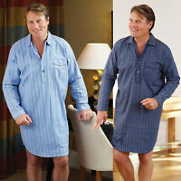 New Men's Champion Harrow Brushed Cotton Striped Nightshirt Pyjama PJ UK M-3XL