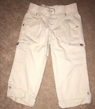 Justice Cropped Beige Pants Size 10 Slim, Like New. Measurements In Pictures.