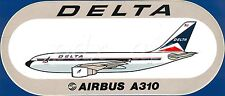 CLASSIC DELTA AIR LINES LIVERY AIRBUS A310 STICKER