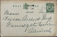 King George V ½ Penny Antique Postcard Posted from Newcastle 15th May 1912