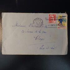 VIGNETTE GUÉRI...JE TRAVAILLE LETTRE COVER CAD PARIS GARE SAINT LAZARE 1948