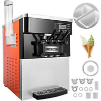 Commercial Soft Ice Cream Machine Ice Cream Maker Ice Cream Cone 3 Flavor 2200W