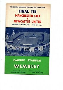 Man City v Newcastle United 1955 FA Cup Final at Wembley