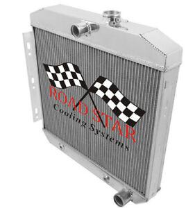CHEVROLET BEL AIR 55-56 6 CYL ALUMINIUM RADIATOR 4 ROW W/POLISHED TANKS (5056)