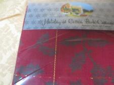 "New 60 x 84 "" Red Green Holly Leaves tablecloth Holiday at Cotton Park Cottage"