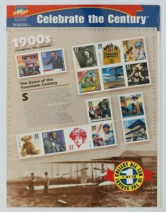 32c Celebrate the Century 1900s Souvenir Sheet of 15 1998 Scott #3182 Sealed