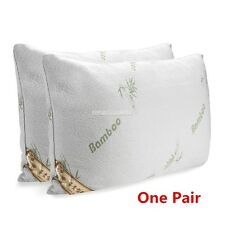 2 PACK Hotel Bamboo Pillow Memory Foam Hypoallergenic Cool Comfort Bag NEW
