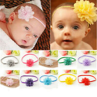 10Pcs/set Baby Infant Toddler Flower Headband Chiffon Headwear Girl Hair Band JP