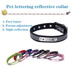 Custom Dog Pet Collar Tag PU Leather Laser Personalized Name Safety Reflective