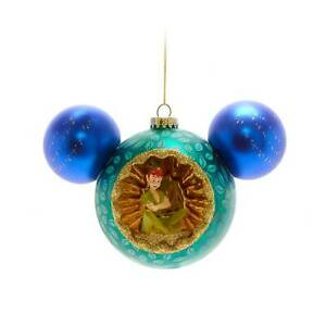 Disney 2021 Peter Pan & Tinker Bell Mickey Mouse Christmas Tree Hanging Ornament