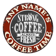 CP-0092 ANY NAME'S COFFEE SHOP Custom Personalized Chic Tin Sign Decor Gift Idea