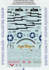 1/48 SuperScale Decals P-51D Mustang 353rd FS 354th FG 2nd FS 2nd ACG 48-929