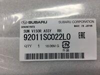 Genuine Subaru 2009-2013 Forester Passenger Side Sun Visor 92011SC022LO OEM NEW