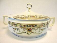 H&Co IMPERIAL COVERED DISH FLOWERS & GOLD TRIM HEINRICH & Co SELB BAVARIA