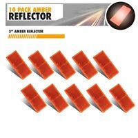 "Amber Stick-on Reflectors for trailer Truck RV 3-1/2"" Rectangular Set of 10"