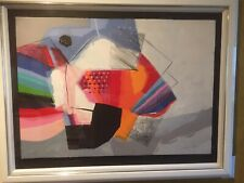 """Awesome Calman Shemi """"Spanish Fan"""" Lithograph Signed And Numbered Israeli Art"""