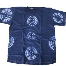 60d3e3f6 T Shirt Batik Cotton India Goa Hippie Psy Size L Unisex Blue Tie-dye