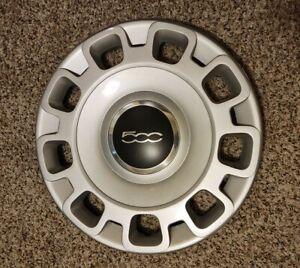 """2012-2017 FIAT 500 15"""" STEEL WHEEL SILVER HUB CAP COVER"""