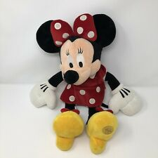 """Disney Store Exclusive MINNIE MOUSE 18"""" Plush Red Velour Dress Stuffed Animal"""