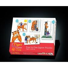 The Tiger Came To Tea 4 in 1 Jigsaw Puzzles Age 3+