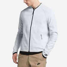 Nike Sportswear Tech Knit Jacket M Mens Two-Way Zip Mesh Panel White Platinum
