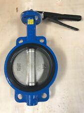 """6"""" Butterfly Valve Ductile Iron Disc Buna Seat Wafer Style With Align Holes"""