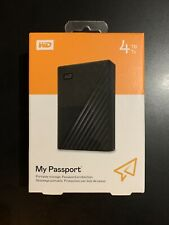 WD MY PASSPORT 4TB. USB 3.2. WESTERN DIGITAL. DISCO DURO. NUEVO. NACEX 24H